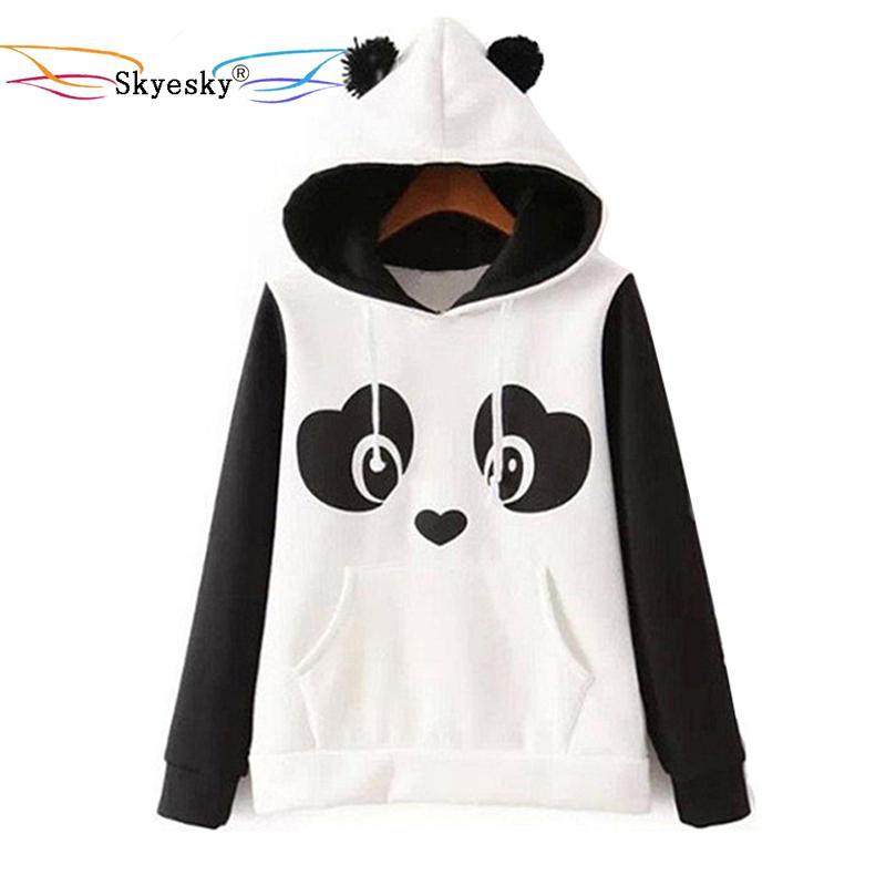 52c5ddc0e6d 2019 Wholesale Women Hoodies With Ears Panda Pocket Hoodie Men Hoodie  Sweatshirt Hooded Pullover Cute Kawaii Blouse Jacket Plus Size XXL From  Erzhang