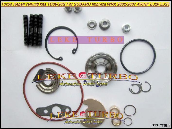 Turbocharger Turbo Repair Kits rebuild kits TD06 20G TD06-20G TD06-20GHW For SUBARU Impreza WRX 2002-2007 MAX HP 450HP EJ20 EJ25 (1)