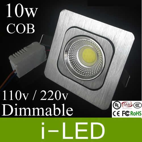 Wholesale recessed led ceiling downlights dimmable 10w cob led wholesale recessed led ceiling downlights dimmable 10w cob led lights for bathroom square led downlight 800lm replace 100w halogen lamp downlighter outdoor aloadofball Images
