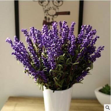 Grosshandelshochzeits Blumen Lavendel Dekorative Blumen Romantische Hochzeits Blumen Kunstliche Gefalschte Lavendel Blumen Ausgangsdekoration 5
