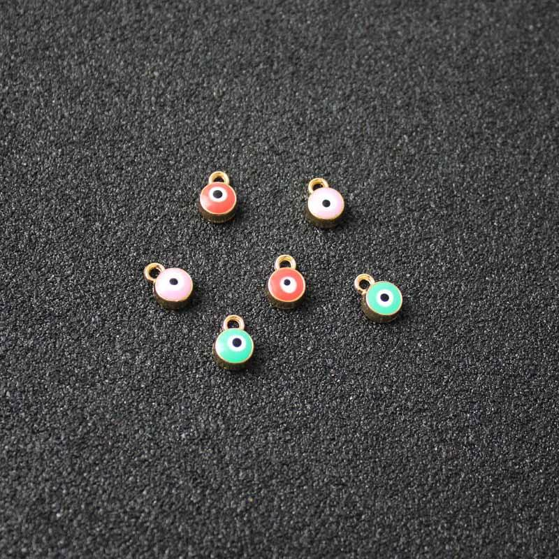 Fashion Turkish Lucky Eye Accessory Supplies For Jewelry DIY Charms Bracelets Accessory Cabochons Eye For Bracelets Wholesale