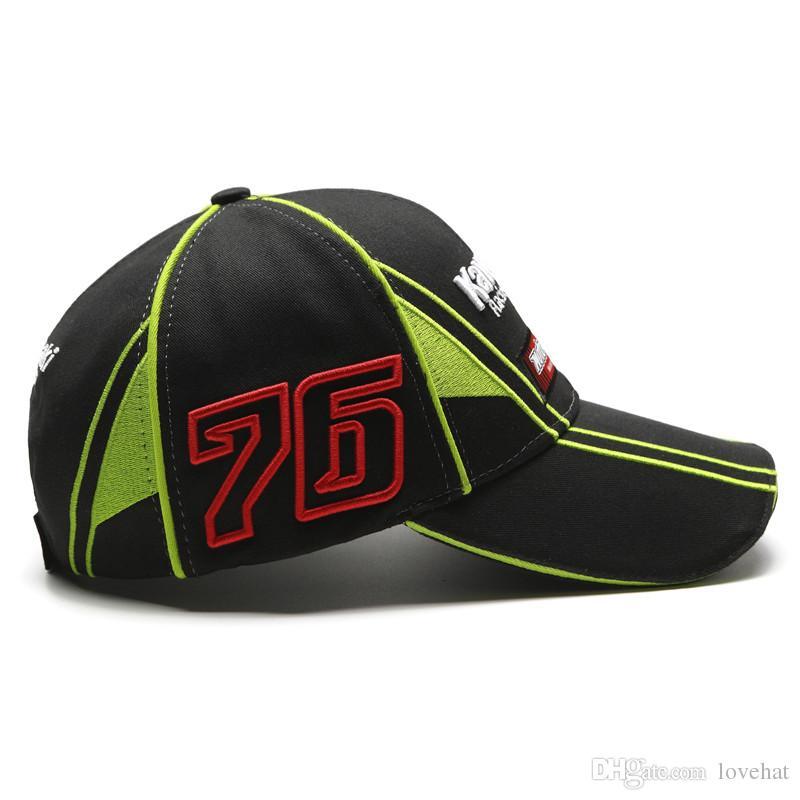 F1 MOTO GP Sport Cap F1 Car Motocycle Racing Kawasaki Ninja 66 65 Embroidery Motocard Baseball Cap gorras trucker Running Cap Hat