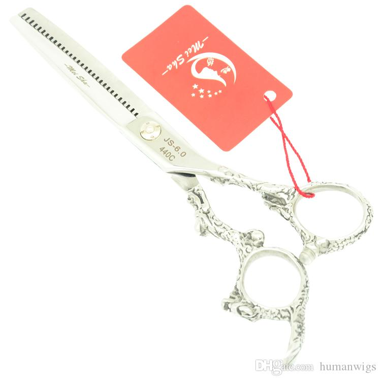 6.0Inch Meisha JP440C Dragon Handle Hair Thinning Shears Hair Barber Scissors Professional Hair Scissors with Case,HA0327