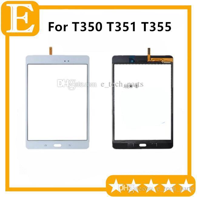 Сенсорный экран Digitizer стекло объектива с лентой для Samsung Galaxy Tab 8,0 T350 T351 T355 с логотипом дигитайзер /