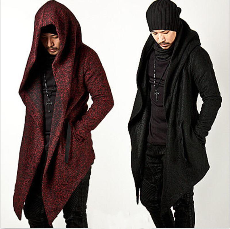 2018 Wholesale 2017 Avant Garde Menu0027S Fashion Tops Jacket Outwear Hood Cape  Coat Mens Cloak Clothing Black/Red M 2xl From Avive, $84.2 | Dhgate.Com