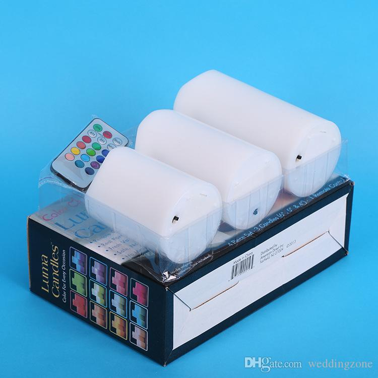 4 in 1 Electronic LED Candle 12 LED Colors For Xmas/Wedding Party Flameless Flickering Tea Light