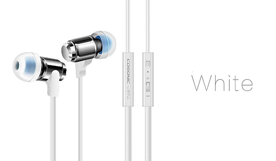 Cosonic W3 Stereo Kulaklık 3.5mm Kulak Kulakiçi Mic Ile Ağır Bas Kulaklık Müzik Handsfree Şok Ses