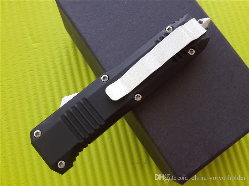 BM C07 HK Mini-Doppelmesser-Automatikmesser 440 Edelstahlklinge Taschenmesser mit Nylonscheide und Kleinkasten A162 G707
