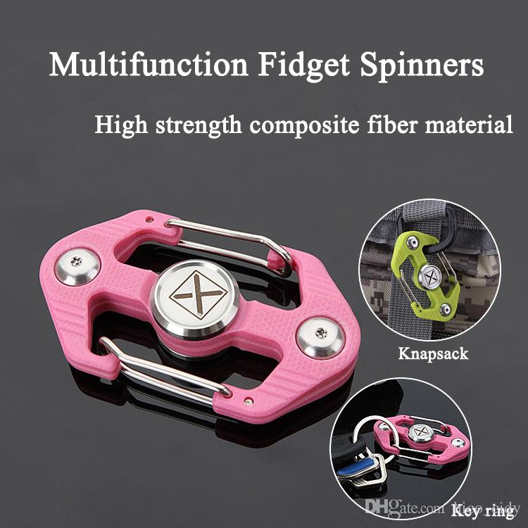 Newest Multifunction Fid Spinner Key Ring posite Fiber Hand