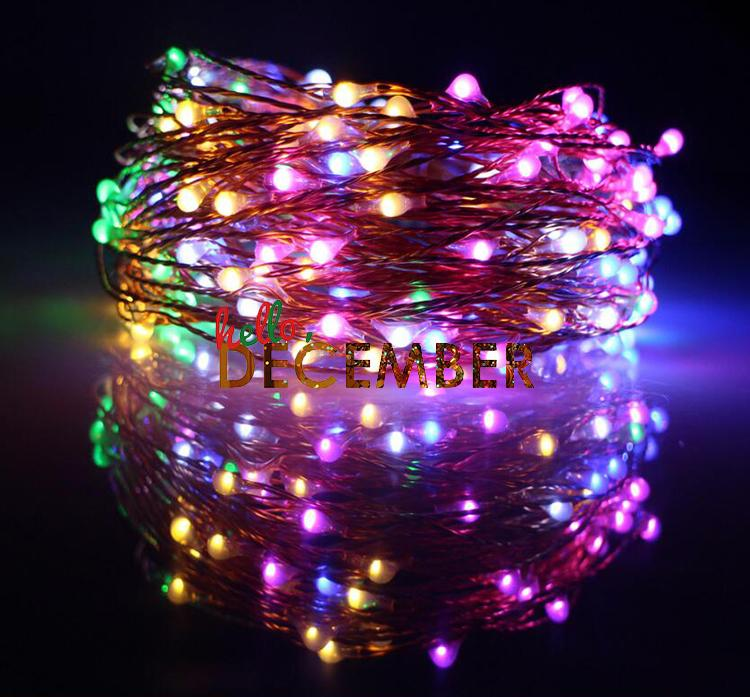 10M 20M 30M LED Solar Flash String Lights 100-200-300 LEDs RGB/Blue/Red/Green/Pink/Purple/Warm/Cool Decorative Lighting Light Strings