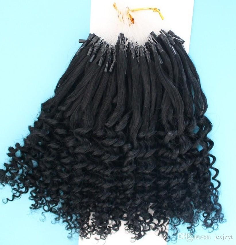 2017 100 human hai micro ringbead loop hair extensions 7a grade 2017 100 human hai micro ringbead loop hair extensions 7a grade brazilian kinky curly hair micro ring extension 1jet black hair extensions bead micro pmusecretfo Image collections