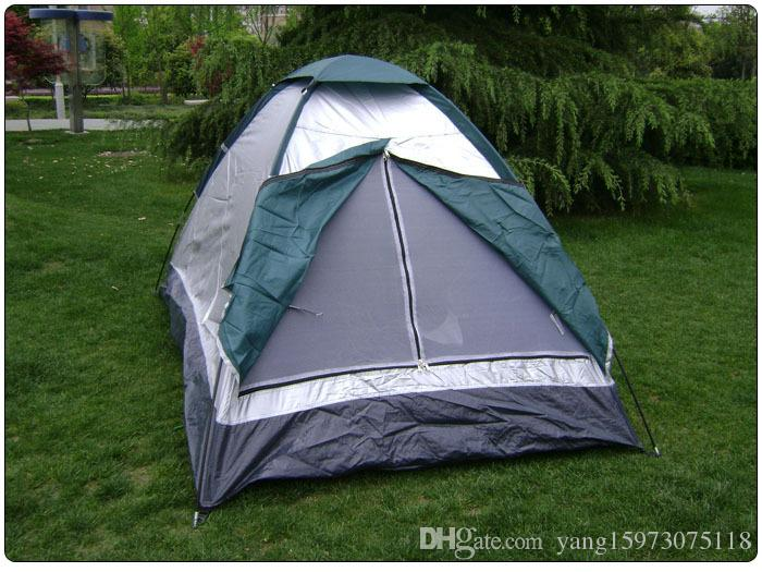 Camping tent with bump durable polyester pongee 2 personal portable waterproof outdoor winter camping tent 173