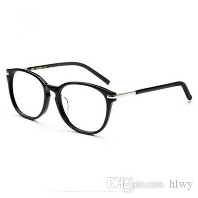 bee2efac176 2019 Star Models Retro Myopia Glasses Frame Female Models Large Frame Plate Plain  Glasses Men And Women Black Box Full Frame W5175 From Hlwy