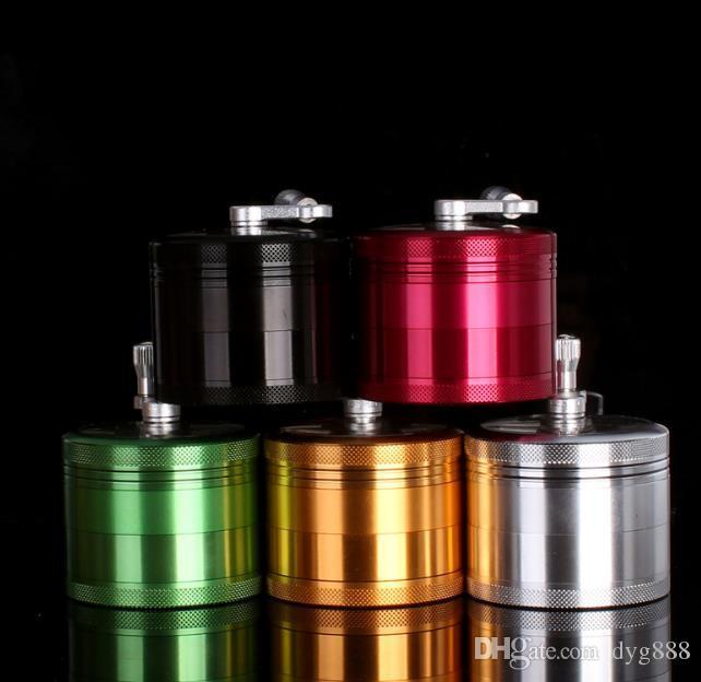 Aleación de aluminio 4 capas de metal pulido máquina mano shuffle humo semiautomático molienda accesorios