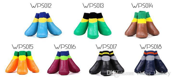 방수 개 코 튼 양말 신발 작은 크기 큰 개를위한 일곱 크기 사용 / set