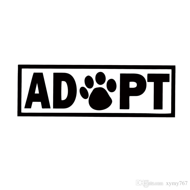 f1862b19 2019 Of Sticker For Adopt Dog Cat Animal Rescue Adoption Paw Print Car  Styling Jdm Vinyl Decal Car Bumper Sticker Accessories Decorate From  Xymy767, ...