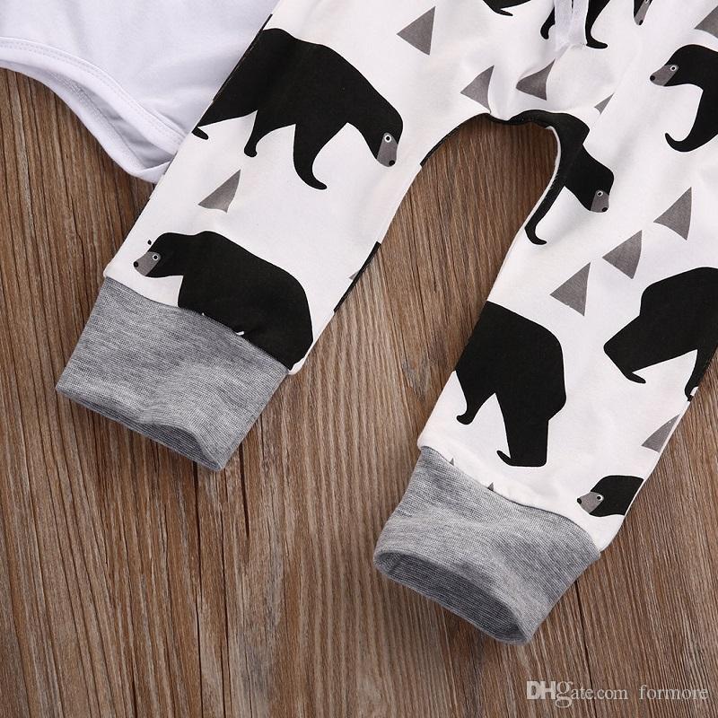 아기 끈을 묶은 모자 아기 브랜드 아기 곰 아기 인쇄 흰색