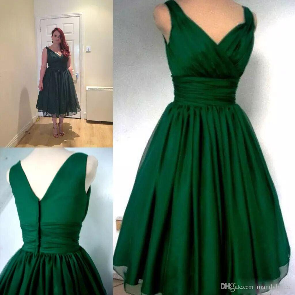 Plus Size Tea Length Semi Formal Dresses
