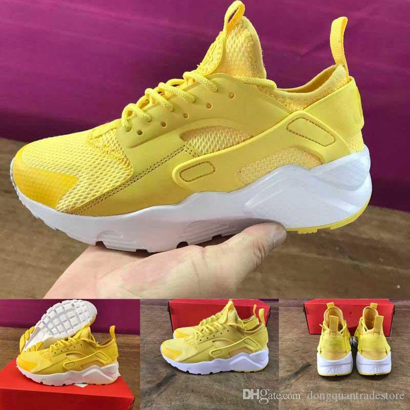 Hot Sale Air Huarache Ultra Classical Yellow White Huaraches Shoes Mens  Womens Running Shoes Sneakers Men Shoes Online Best Running Shoes For Flat  Feet From ... a15237c92