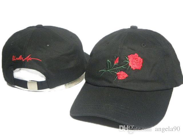 235e0c6c794 Hand Embroidery Krip Varzar Adjustable Baseball Cap Rose Bones 6 ...