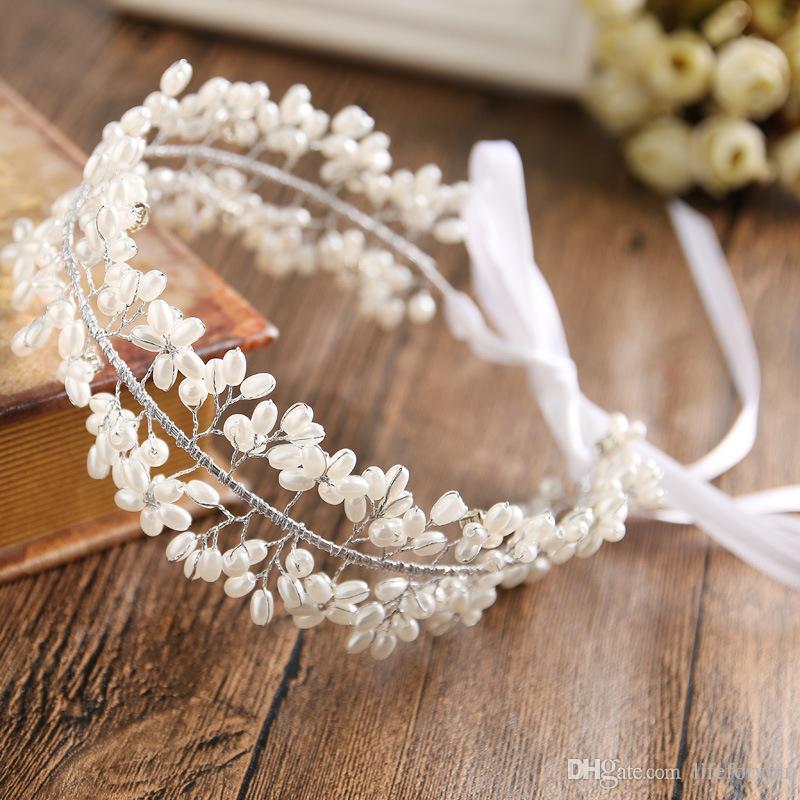 guirlande artificielle couronne accessoires de cheveux de mariée bandeaux de mariée coiffure de mariage pour la robe de mariée accessoires de coiffure coiffes de perles