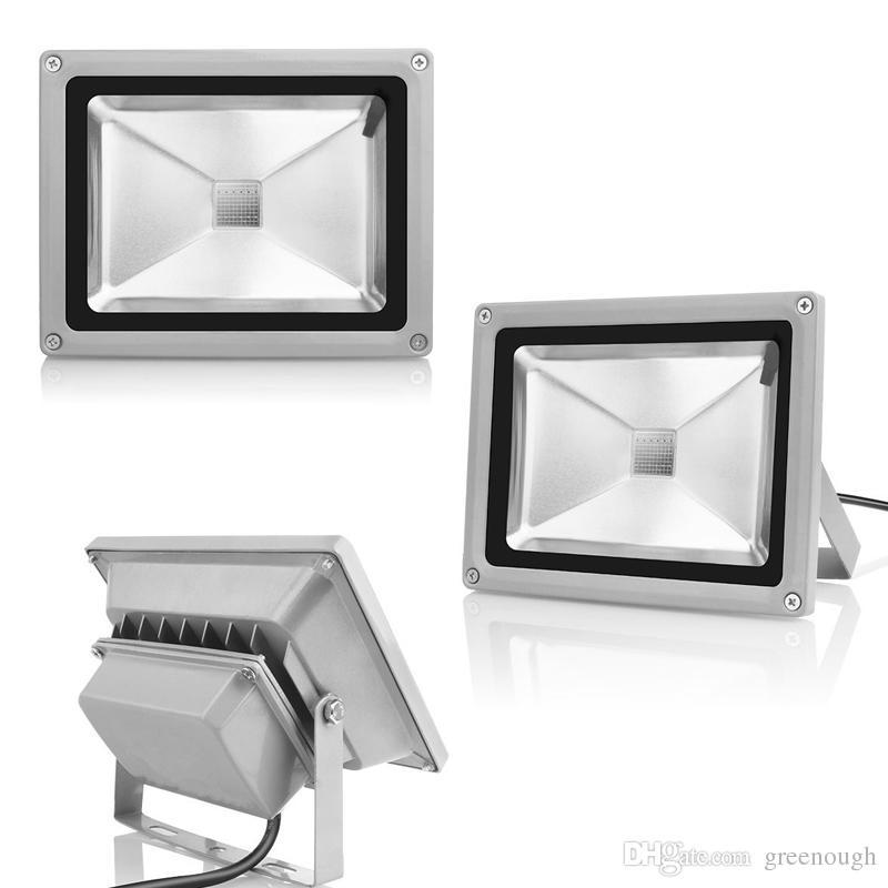 Su geçirmez Işıklandırmalı Peyzaj Lambası RGB LED Sel Işık AC85-265V Renk Değiştirme Duvar Yıkayıcı Lambası + Uzaktan Kumanda 10 W 20 W 30 W 50W