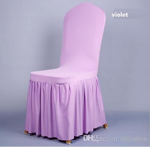 Chair skirt cover Wedding Banquet Chair Protector Slipcover Decor Pleated Skirt Style Chair Covers Elastic Spandex High Quality WT056
