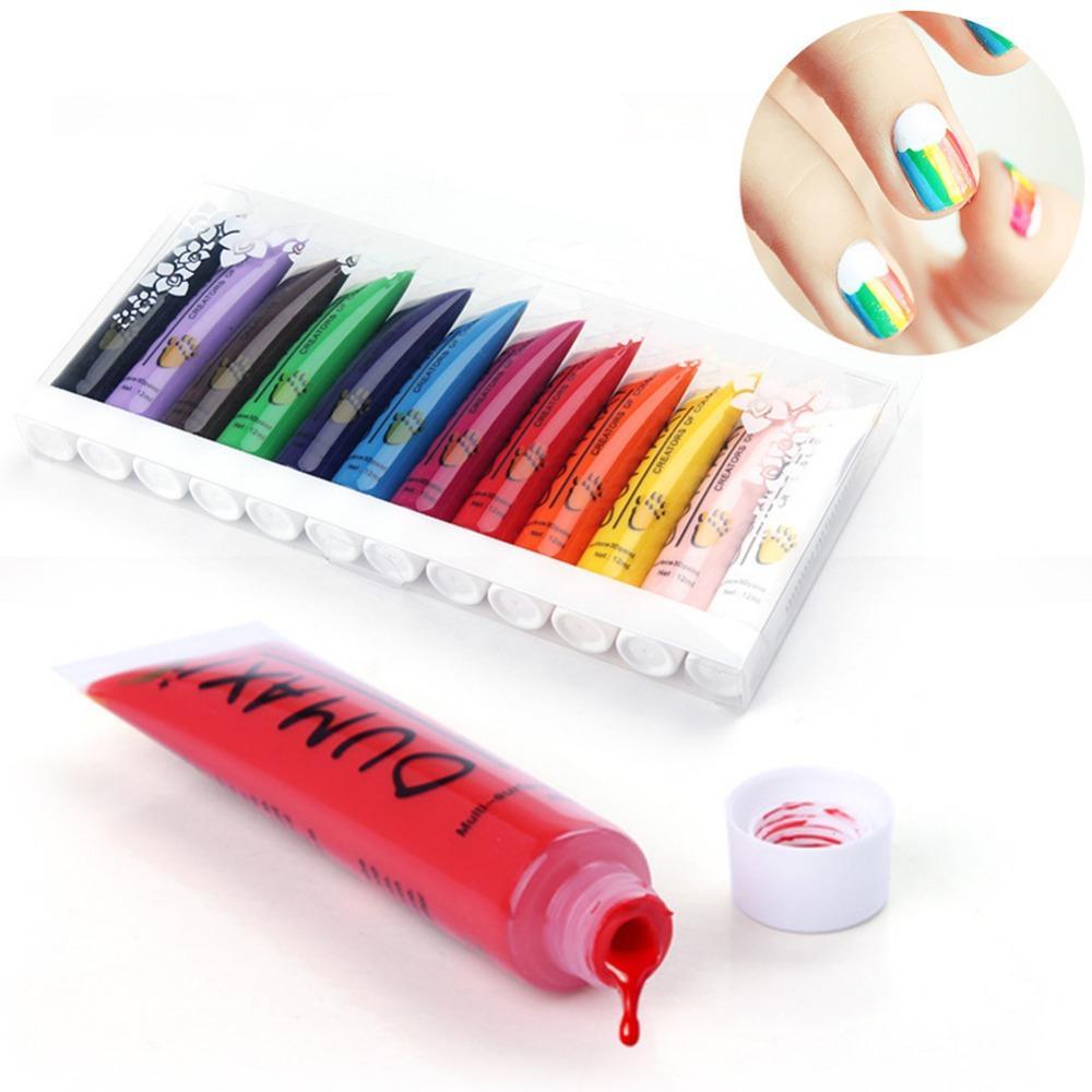 Wholesale- /pack Acrylic UV Gel Design 3D Paint Tube Nail Art Pen ...
