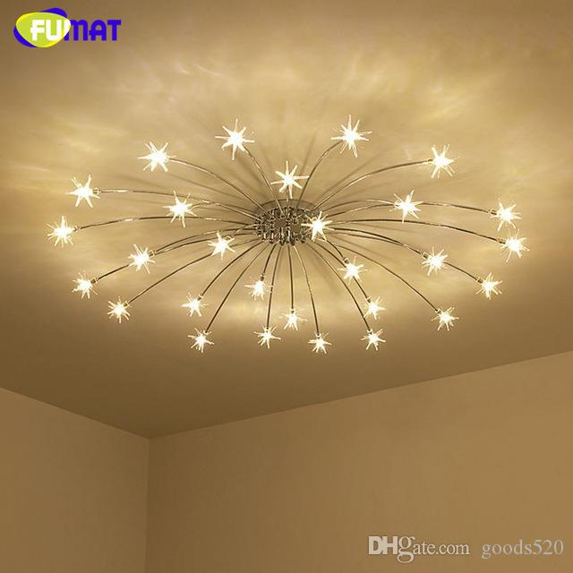 2019 Fumat Modern Round G4 Led Crystal Glass Stars Ceiling