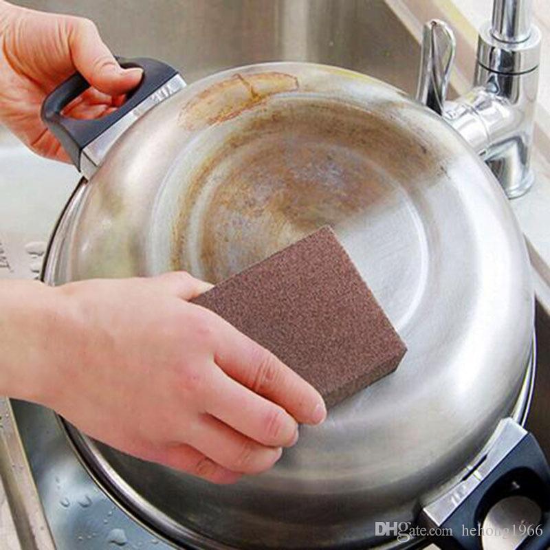 Magic Scrub Spugna Nano Emery Pulito decalcificante Ruggine Rimuovi Durevole Spugne decontaminazione in gomma Strumento cucina calda a casa 1 3hd F