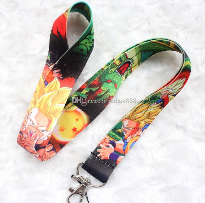 Wholesale Mixed 10 pcs Popular Cartoon Japanese Anime Dragon Ball Mobile phone Lanyard Key Chains Pendant Party Gift Favors 0103