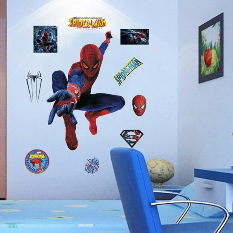 The New Spider Man 3d Three Dimensional Wall Stickers Creative Sofa ...