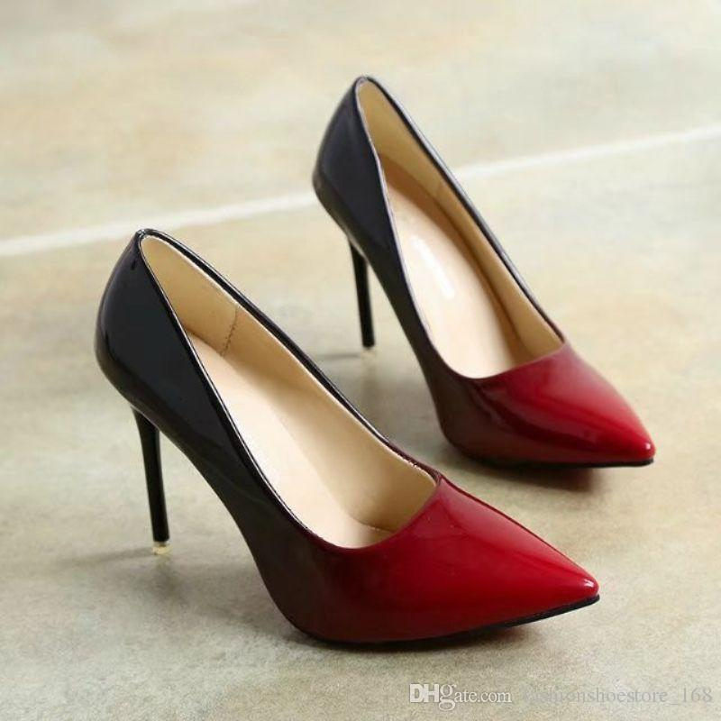 Womens High Heels Shoes 2017 Red Pumps Women Party Wedding Shoes Stiletto  Heels Women S Dress Shoes Salto Alto Sapatos Mulher Blue Shoes Shoe Boots  From ... ad062ca24f95