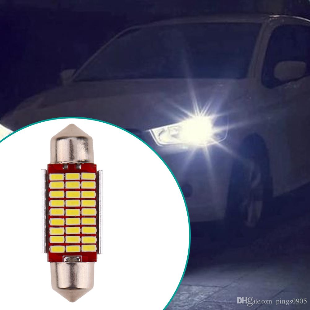 acheter 36mm 27smd car styling double point haute lumire auto codage lampe de lecture led intrieur de voiture lumiresvoiture lumire mettant la diode