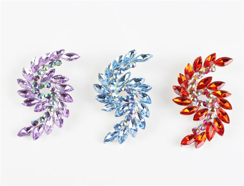 New High-grade Fashion Womens Corsage Brooch Crystal Wings Brooch Pin Clothing Ornaments Wholesale