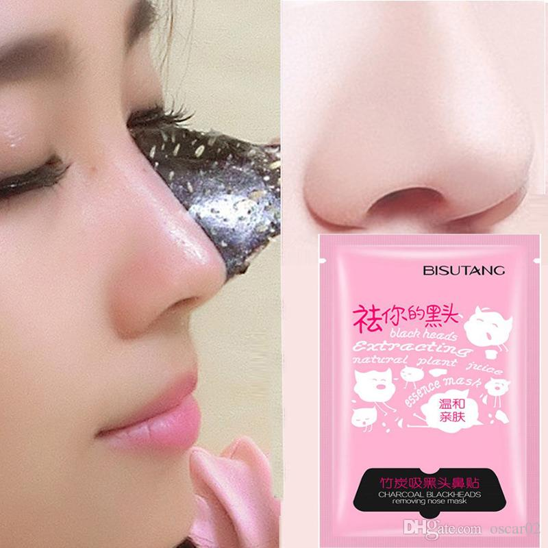 Bamboo Charcoal Acne Mask Oily Skin: BISUTANG Bamboo Charcoal Mask Pig Nose Pad Suction Black