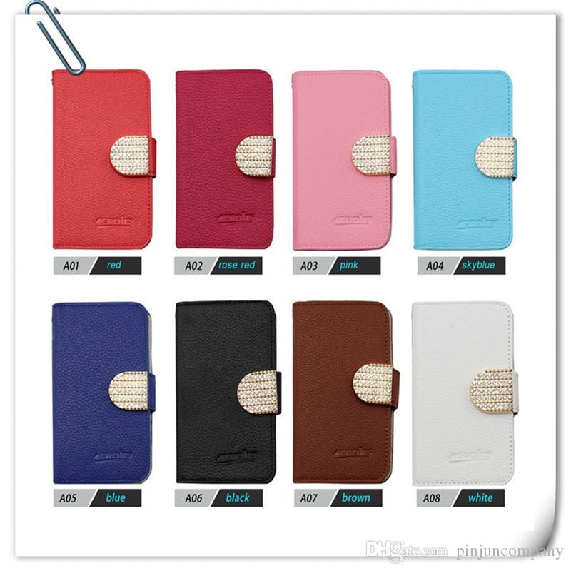 Motorola moto E4 Metropcs / G5 ARTı Boost LG STYLO 3 artı Stylus 3 deri Elmas kılıf Kapak Ile kredi kartı yuvaları