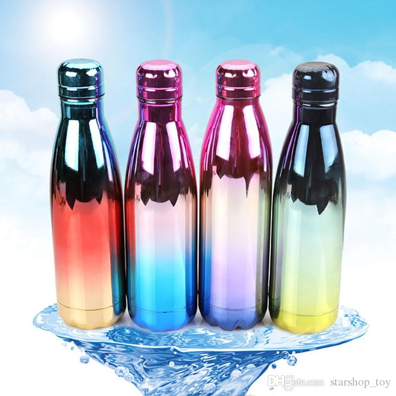 40d25fa60 Cola Shape Bottle Vacuum Insulated Water Bottles Colorfully Plating Double  Walled Stainless Steel Bottle Mugs Coke Bottle XL G131 Glass Water Bottles  For ...