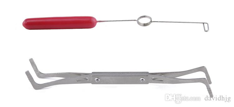 19 in 1 다기능 스프링 렌치 장력 세트 자물쇠 도구 스테인레스 스틸 텐션 렌치 / 부엉 막대 도구 자물쇠 공급