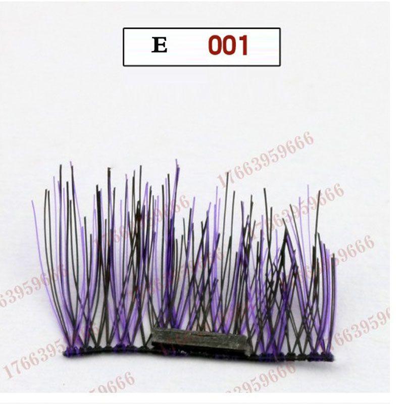 3D Magnetic False Eyelashes Hand Tied Black Purple Natural Long Magnet Eyelashes Cross Thick Eye Lashes Extension Magnetic Eyelashes