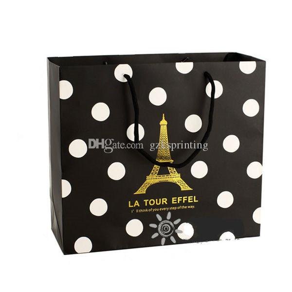Paper bags customized for shopping packaging gift bags with handles Wedding garment clothes dress bags full color printing PB15-18