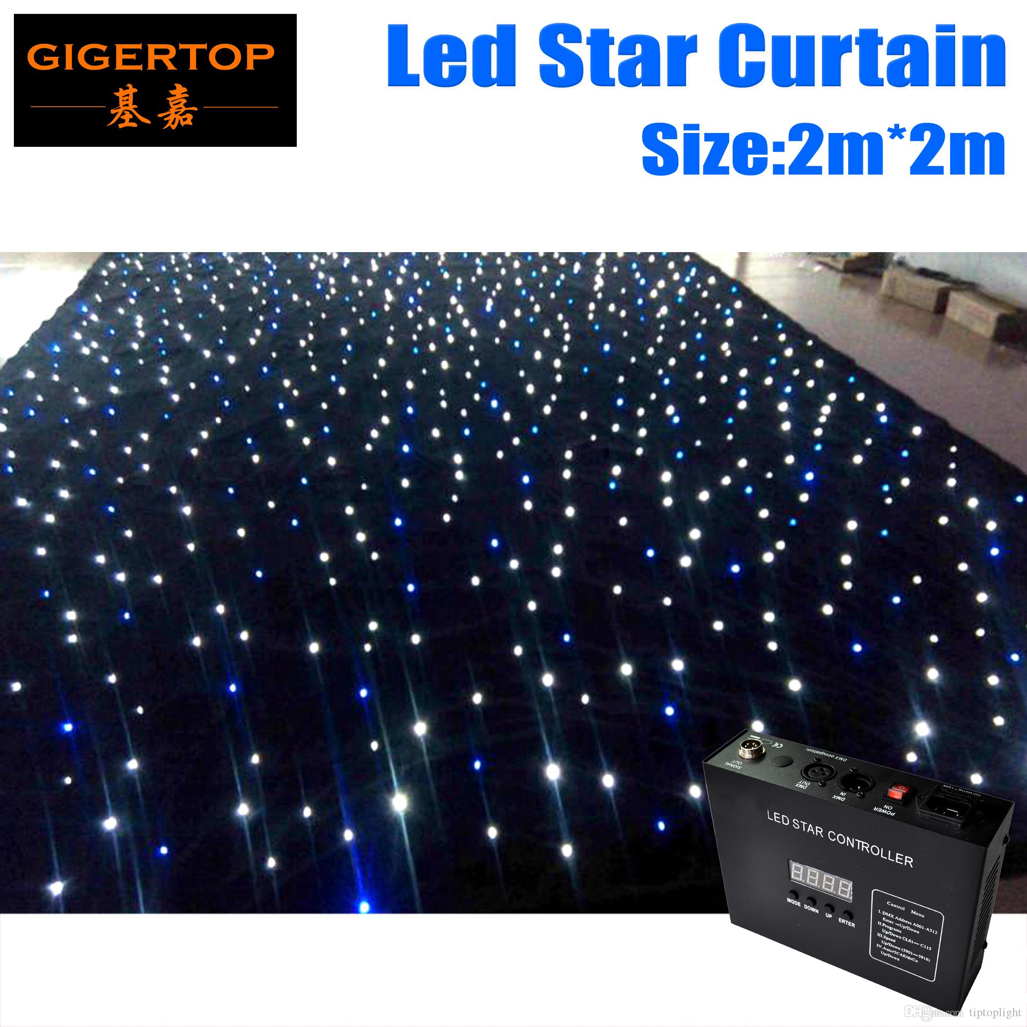 Super Deal Customize 2M*2M High Quality RGBW/RGB Color Curtain LED Star Cloth with Controller 90V-240V Light Curtain CE ROHS