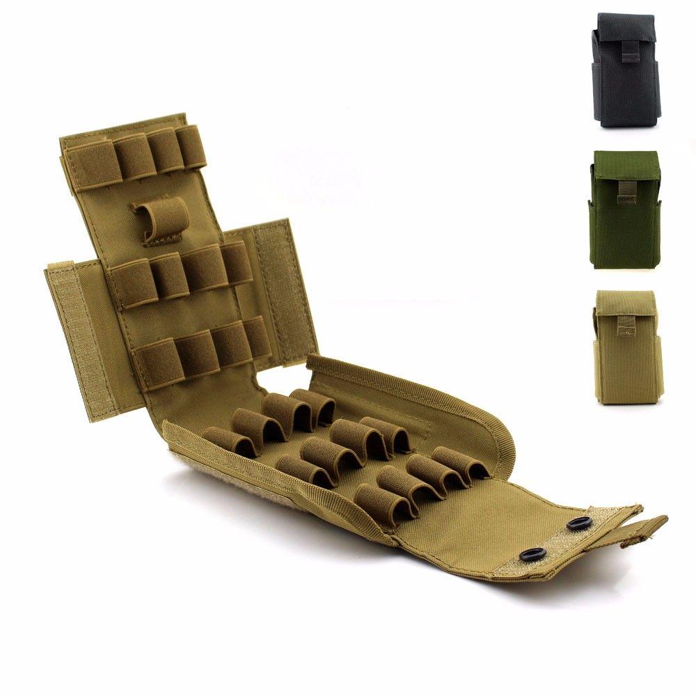 Тактический Молле приятелей 25 круглый 12 калибра снарядов дробовик перезарядить журнал мешок