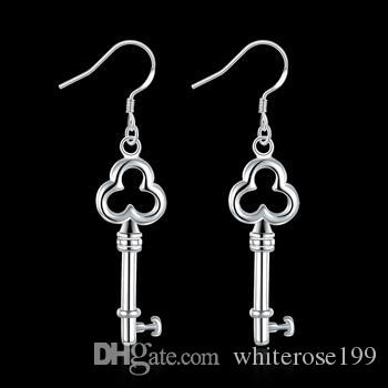 Wholesale - lowest price Christmas gift 925 Sterling Silver Fashion Earrings yE134