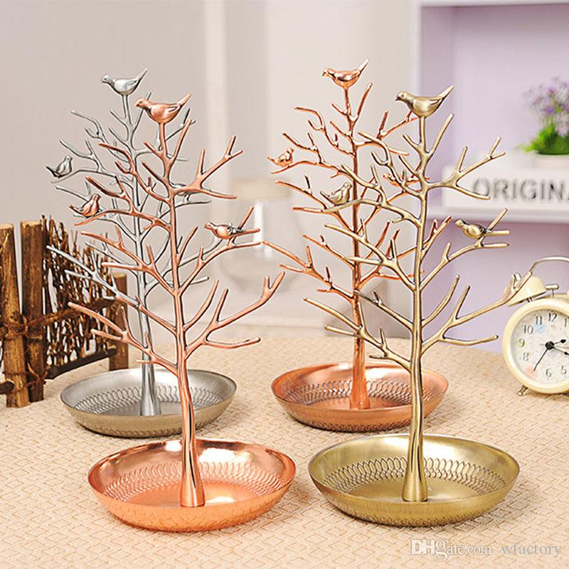 Jewelry Holder Jewelry Organizer Birds Tree Jewelry Stand Display