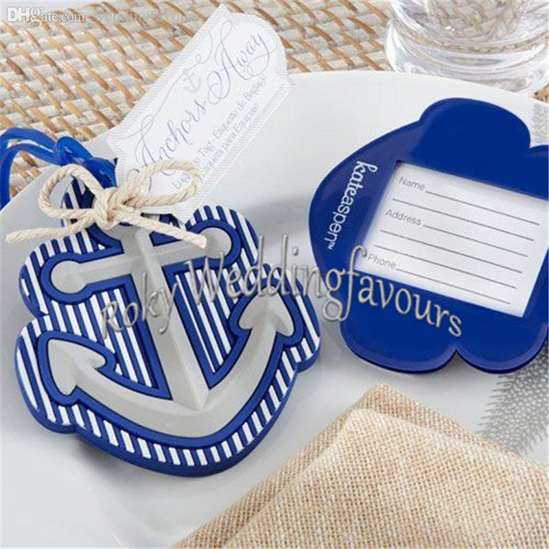 Free Shipping 100PCS Beach Theme Anchor Luggage Tag Wedding Favor Bridal Shower Party Gift Guest Present Favour