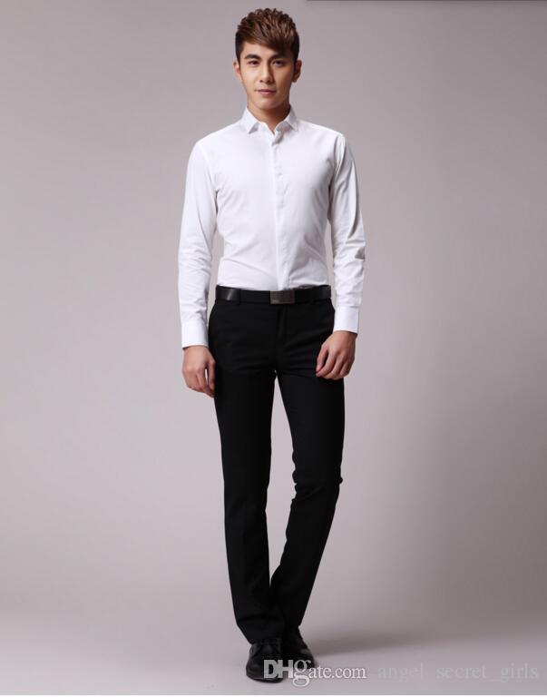 Camicia da uomo di alta qualità con maniche lunghe da uomo e da uomo