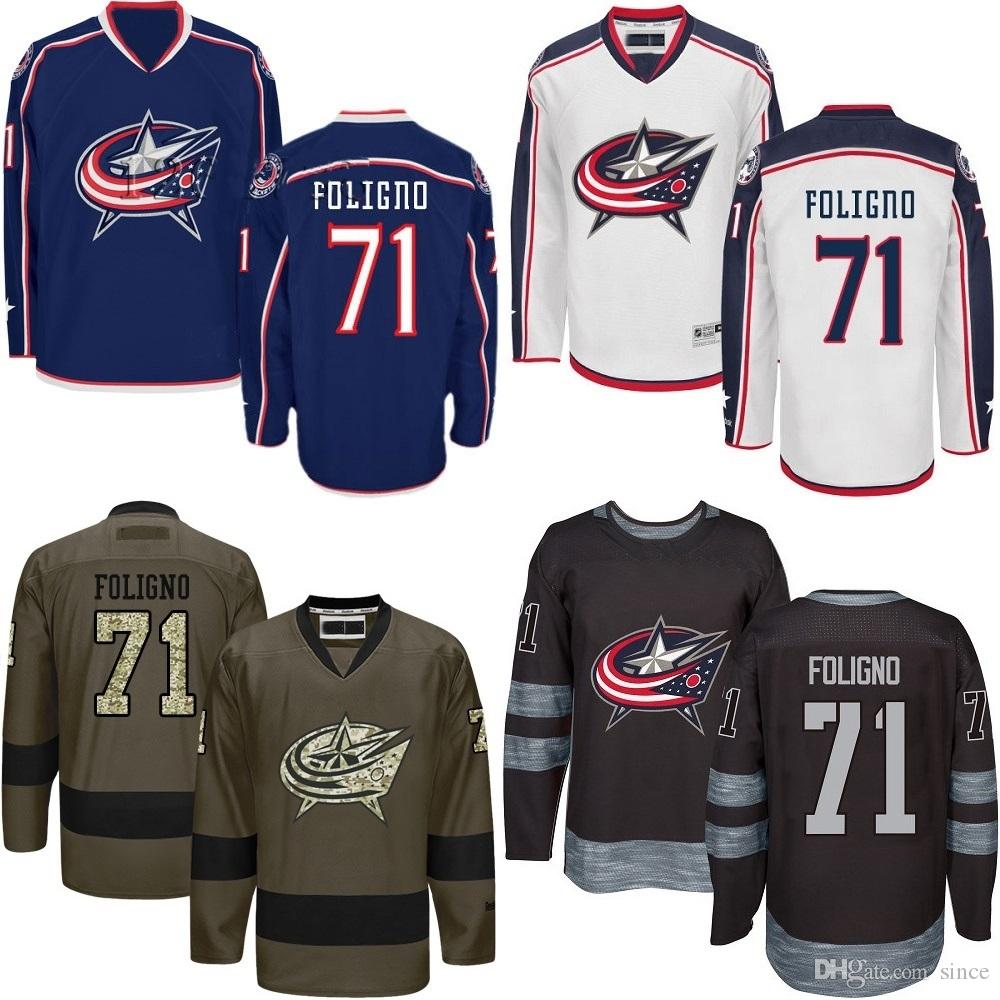 2019 2016 New 71 Nick Foligno Jersey Columbus Blue Jackets Adult Hockey  Jersey Blcak White Green Blue Authentic Stitched Jersey Drop Shipping From  Since f6e634cd5d02
