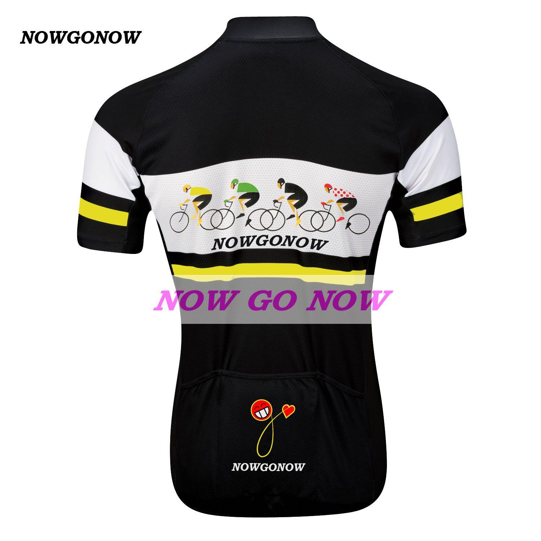 Kann angepasst werden gelb 2017 tour radfahren jersey männer kleidung bike wear nowgonow pro racer ropa ciclismo reiter road mountain schwarz cool