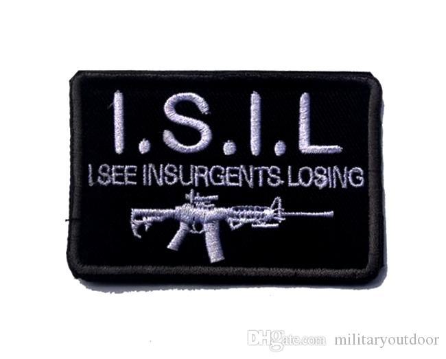 VP-128 3 * 2 pouces patches brodés 3D I.S.I.L patches Badge tactique badges extérieur recoudre jeu patch correctif
